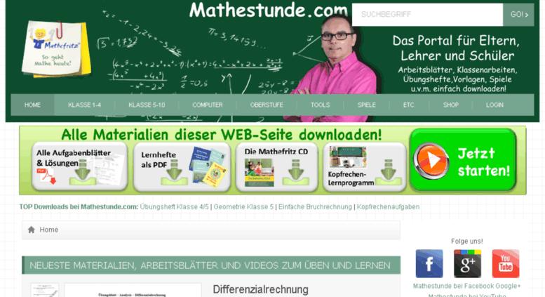 Access mathe-klassenarbeiten.de. Free math worksheets - Free Math ...