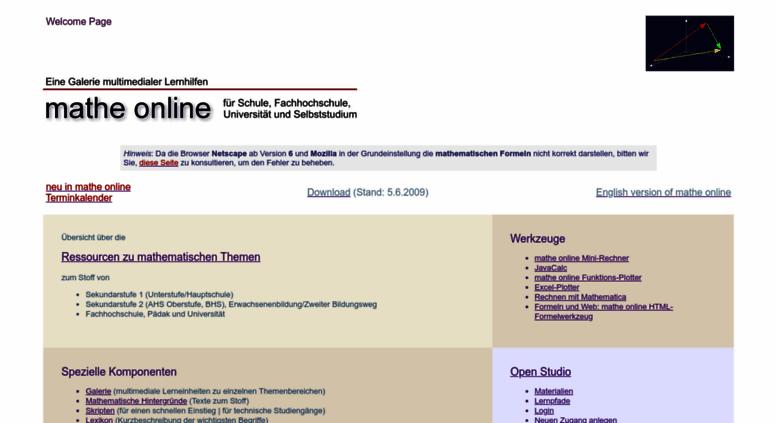 Atemberaubend Mathe Onlibe Fotos - Mathematik & Geometrie ...