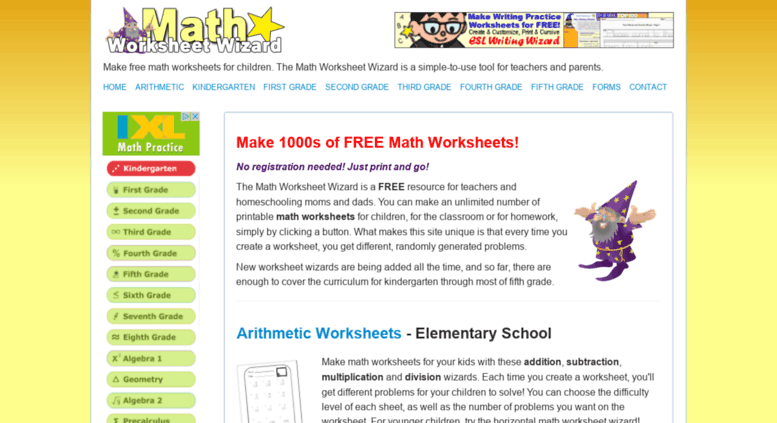 Access Mathworksheetwizard Make Math Worksheets Math