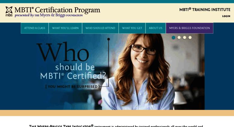 Access mbtitraininginstitute.myersbriggs.org. MBTI Certification and ...