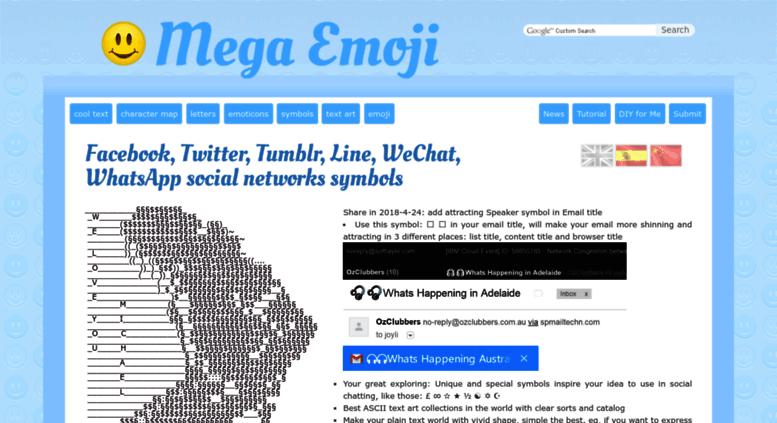 Access Megaemoji Facebook Symbols Cool Text Signs Emoticons