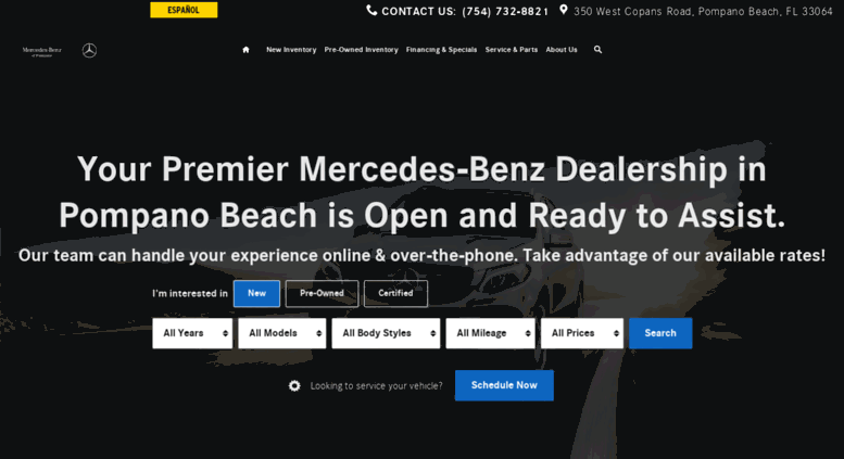 Access mercedes benz dealer for Mercedes benz of pompano beach