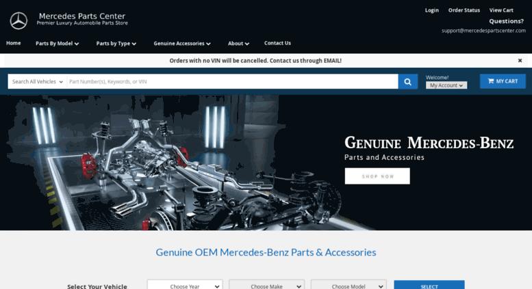 Mercedespartscenter.com Screenshot
