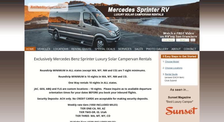 Access Mercedessprinterrvrentals Mercedes Sprinter RV Rentals