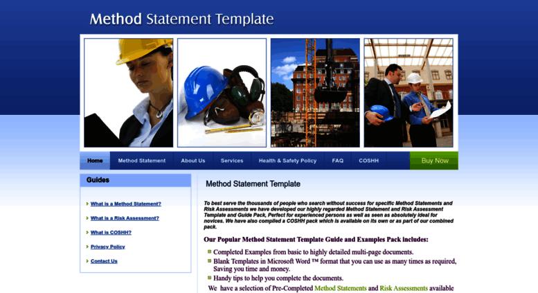 Method Statement Template | Access Method Statement Template Com Method Statement Template I