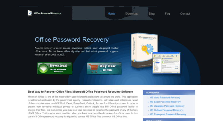 microsoft outlook 2007 password recovery