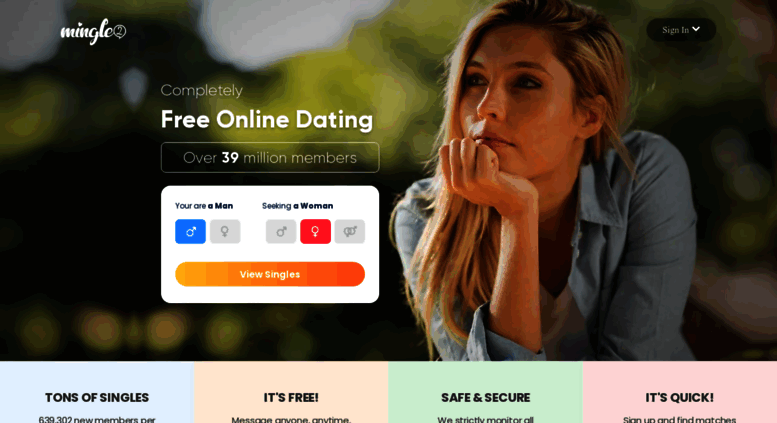 Free dating site singles - mingle2.com