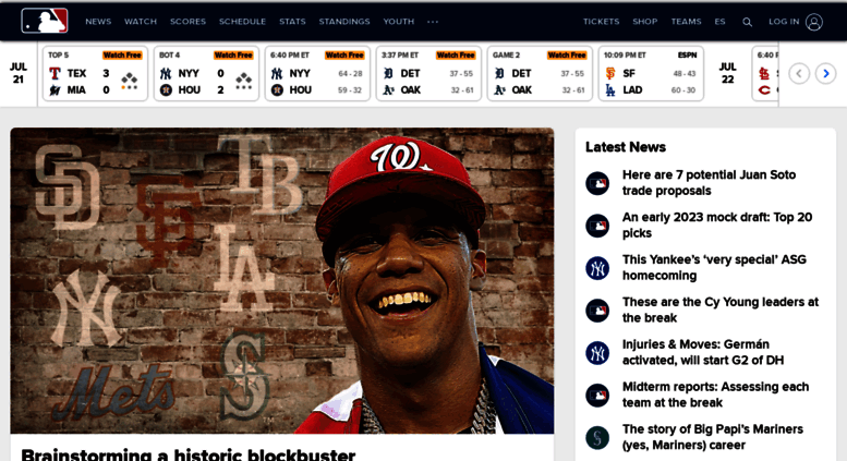 Mlb The Official Site Of Major League Baseball