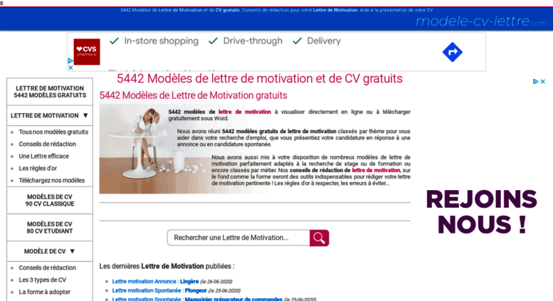 access modele-cv-lettre com  lettre de motivation