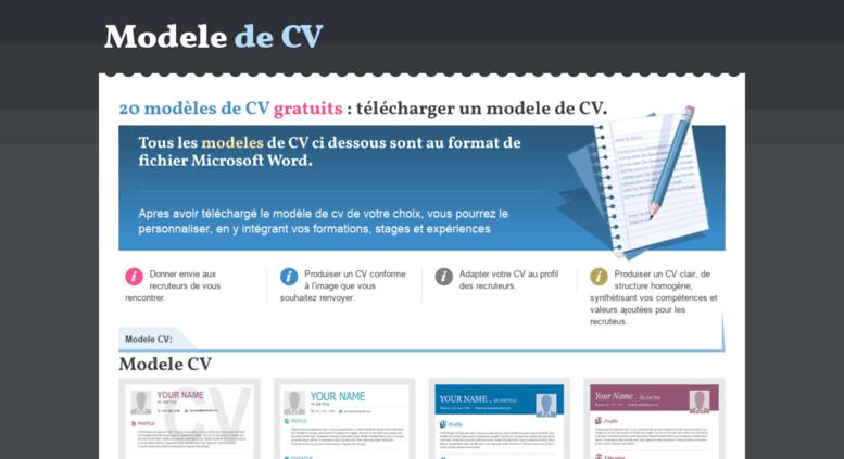 emploirama modele cv Access modeledecv.com. 20 modèles de CV gratuits emploirama modele cv