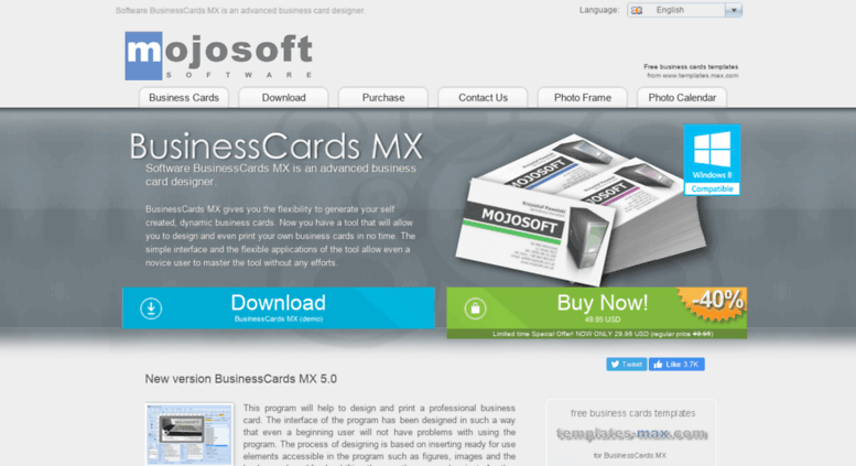 Access mojosoft software mojosoftftware for design and access mojosoft software mojosoftftware for design and print high quality business cards reheart Image collections