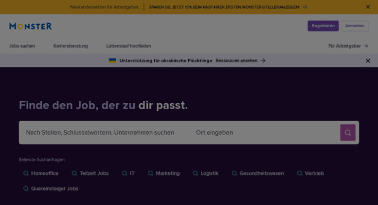 Access monster.de. Jobbörse, Stellenangebote, Jobs, Jobsuche ...