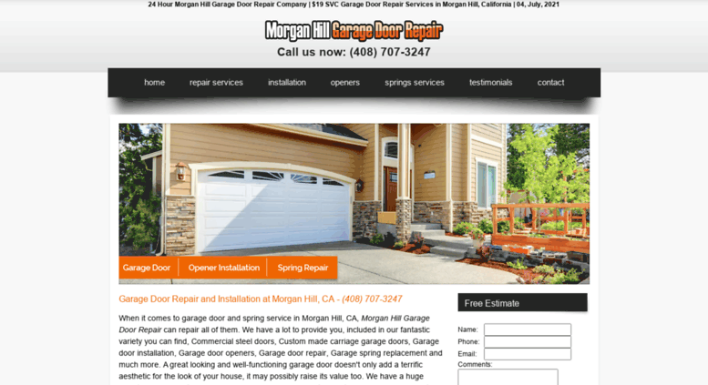 Morgan Hill Garage Door Gallery Design For Home