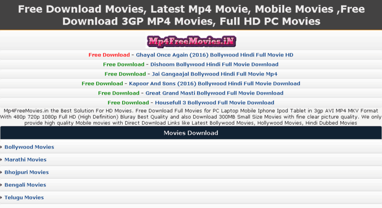 Free Hindi Movie In Mp4