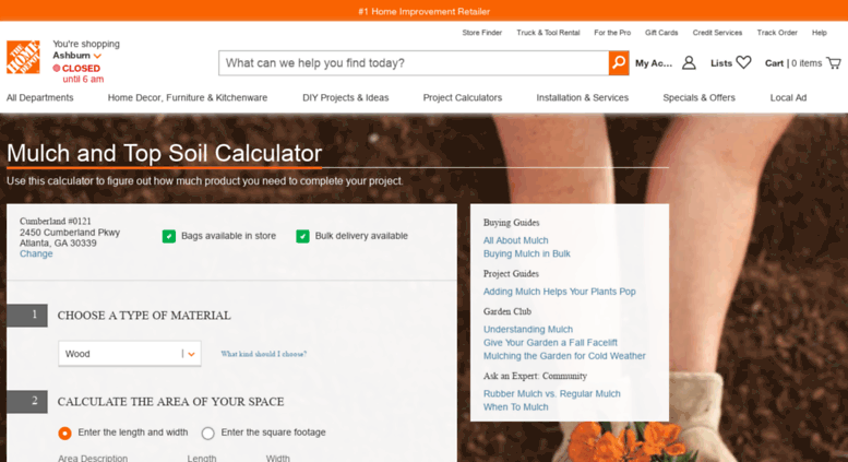 Mulch Calculator Home Depot - Home Decor 2018