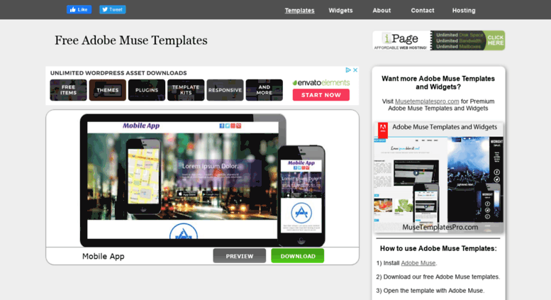 Access Musetemplatesfree Free Adobe Muse Templates Themes And