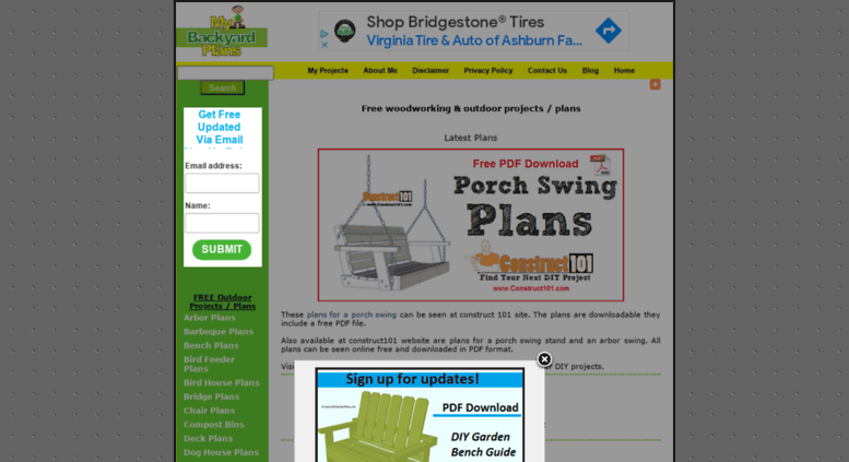 Free Woodworking Plans, Backyard Projects, Garden Furniture, And More .