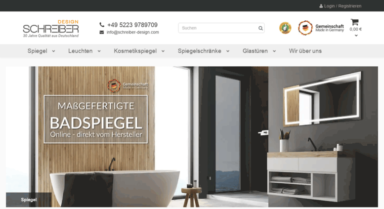 Access mybadspiegel.com. Badspiegel nach Maß und hochwertige ...