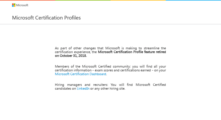 Access Mycertprofile Microsoft Certification Profiles