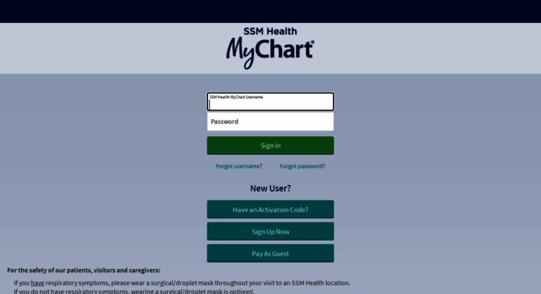ssm my chart login