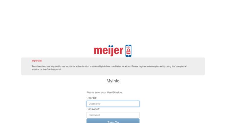 meijer myinfo Access myinfo9.meijer.com.