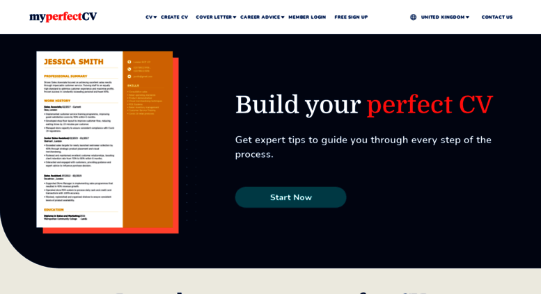 access myperfectcv co uk  cv builder  free cv builder