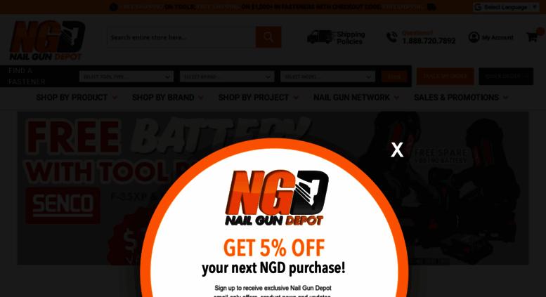 Access nailgundepot.com. Nail Gun Depot - Cordless & Air Powered ...