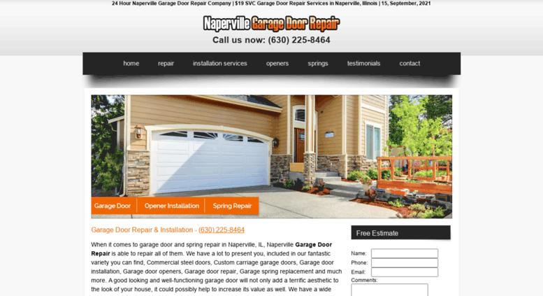 Access Napervillegaragedoorrepair.biz. $19 SVC   Garage Door Repair  Naperville IL   (630) 225 8464