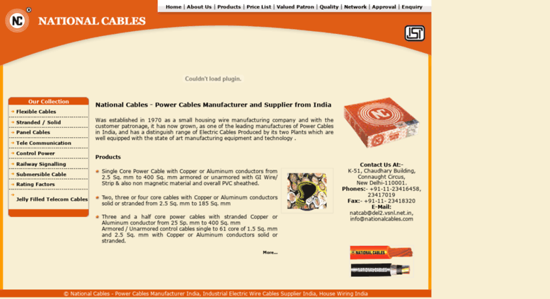 Access nationalcables.com. Power cables manufacturer India ...