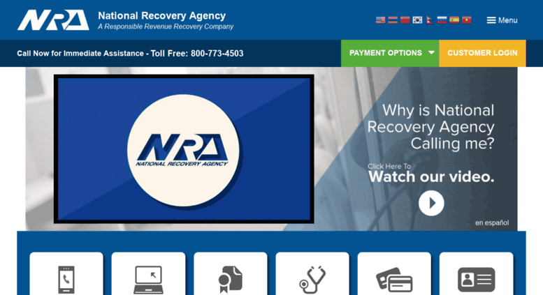 access nationalrecovery com nra national recovery agency a