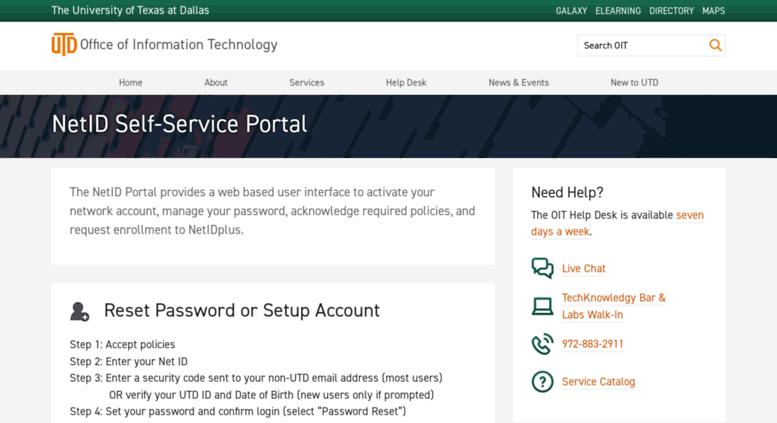 Netid.utdallas.edu Screenshot