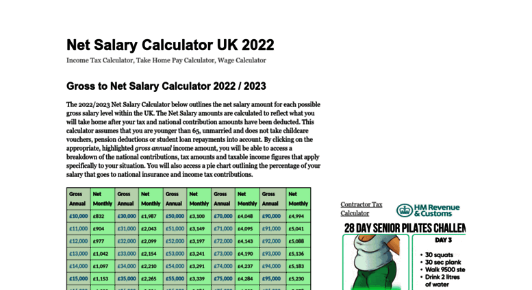 Access netsalarycalculatorcouk Net Salary Calculator UK 2017 – Net Pay Calculator