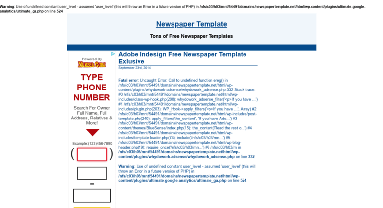 Access Newspapertemplate Newspaper Template Microsoft Word