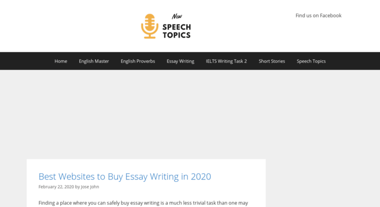 New Speech Topics Short Essay Writing Topic For High School Students