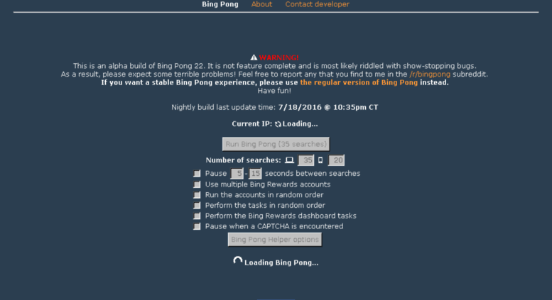 access nightly bing pong com
