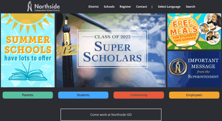 Access nisd.net. Home | Northside Independent School District