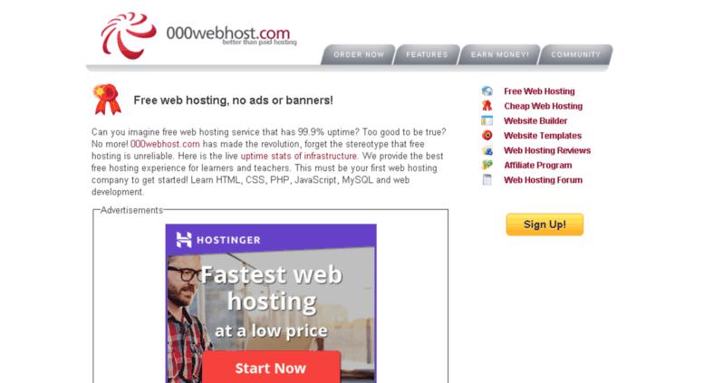 Бесплатный хостинг с ns как сделать страницу новостей на сайте html