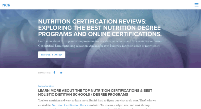 Access Nutritioncertificationreviews The Best Nutrition