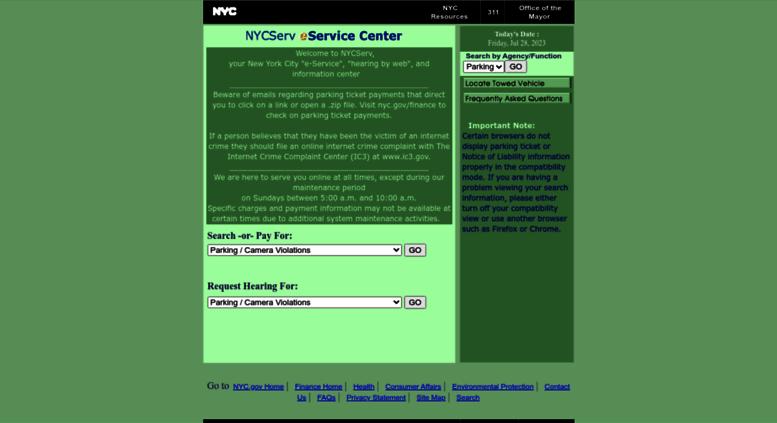 Access nycserv.nyc.gov. NYC Serv - New York City On-Line ...