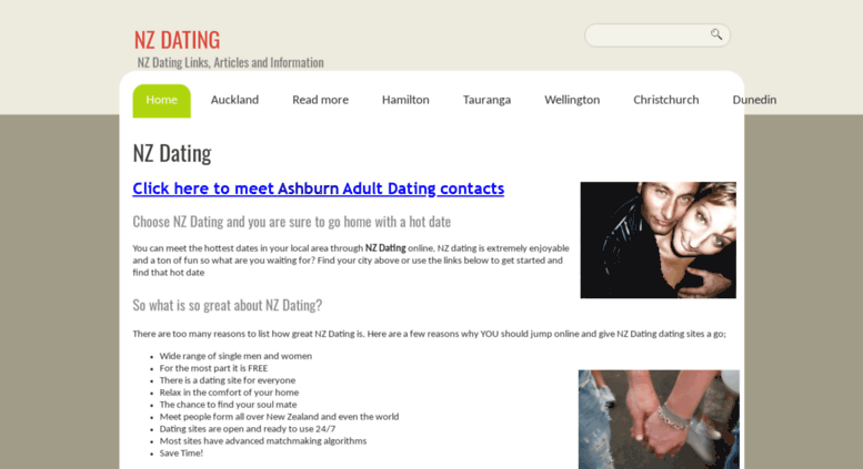 free dating site nz function While meeting people can be interesting and fun for its own sake, in new zealand it can be much more - the key to finding somewhere to live, a job, a great tradesperson, the best shopping deals or the best place to have a holiday that's because we're a country where a lot of business is done with people.