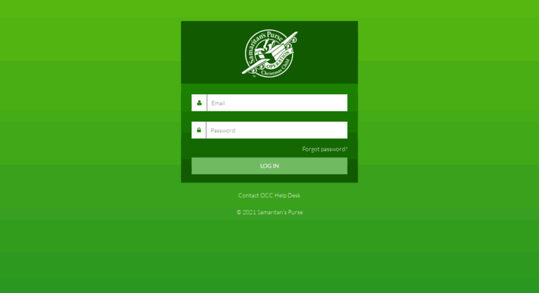 Access occextranet.org. Operation Christmas Child - Login