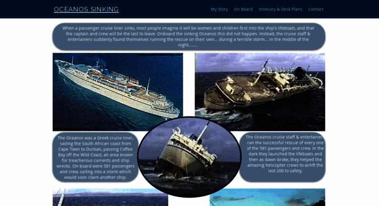 Access Oceanossinkingcom OCEANOS CRUISE SHIP SINKING - Sinking cruise ship oceanos