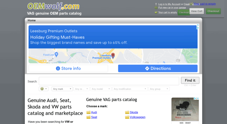 Access Oemwolfcom Genuine Parts Catalog For Audi Seat Skoda And - Audi parts online