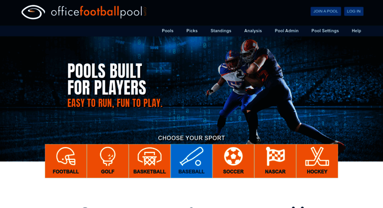 officefootballpoolscom office football pool hosting pro and college football pools college bowl pools march madness pools pick the bracket
