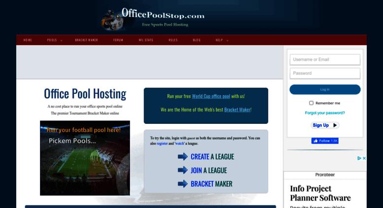 online office football pool