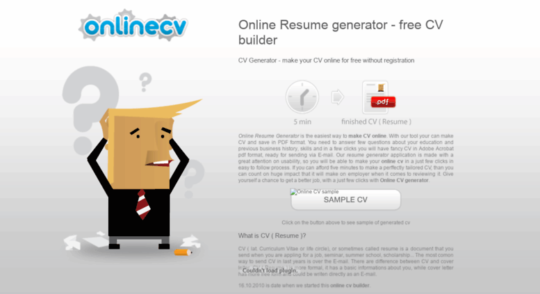 access onlinecvgenerator com online resume generator free cv