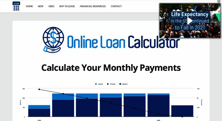 Access onlineloancalculator.org. Car Loan Calculator ~ Auto Loan ...