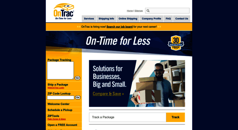 Access ontrac.com. OnTrac Shipping - Overnight Delivery for Less ...