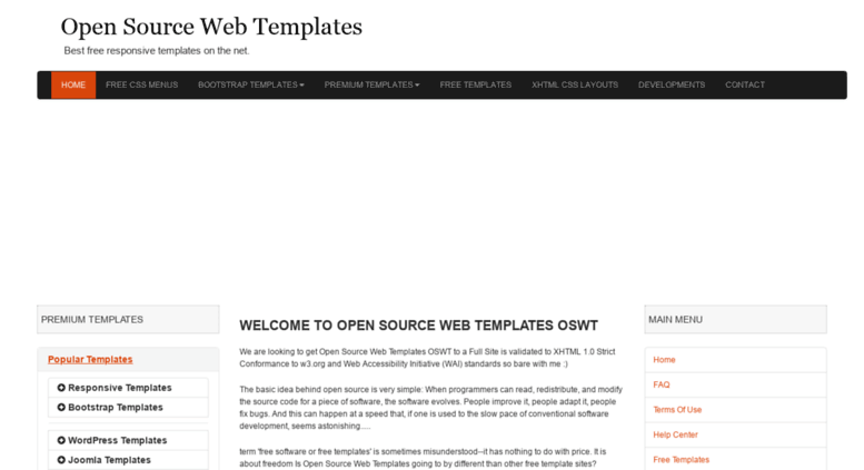 Access Oswtcouk Open Source Web Templates Free Templates Free - Open source website templates