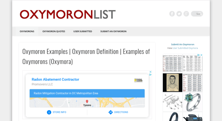 Access Oxymoronlist Oxymoron List Funny Examples Of Oxymorons
